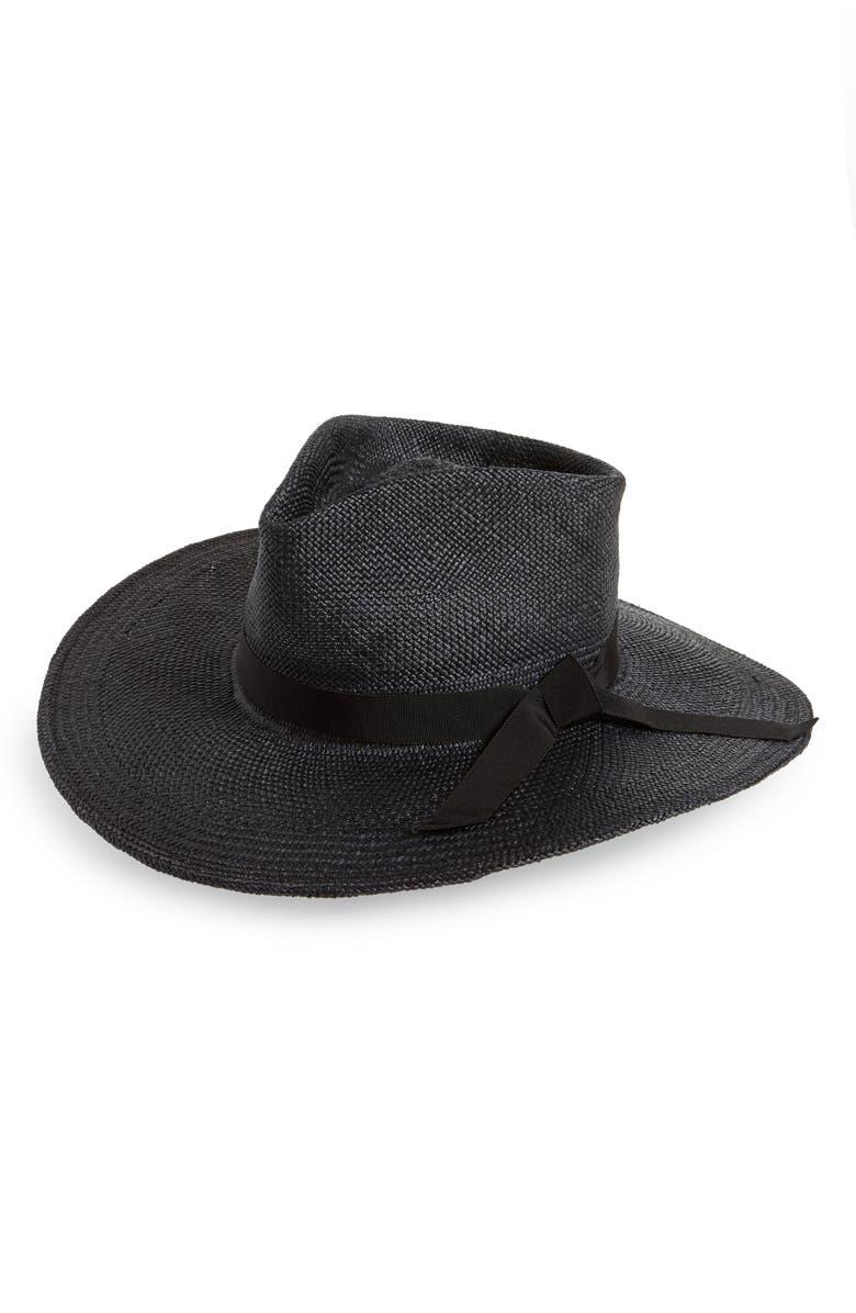 GLADYS TAMEZ Esthella Straw Panama Hat, Main, color, 001