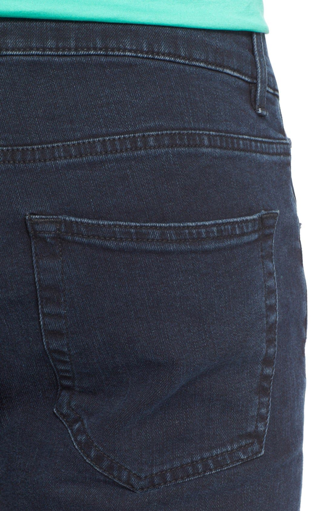 ,                             Slim Straight Leg Jeans,                             Alternate thumbnail 3, color,                             400