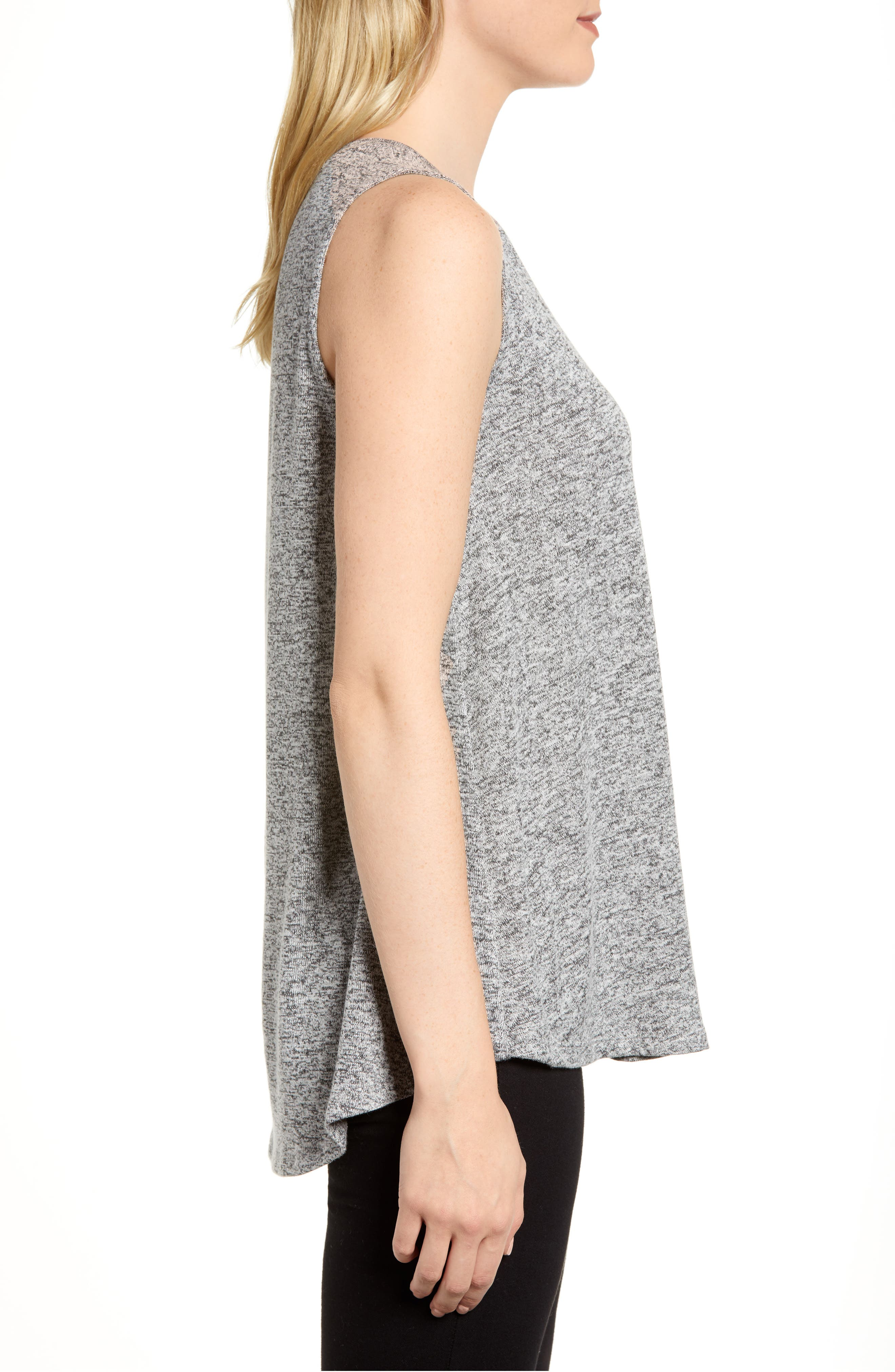 ,                             x Living in Yellow Millie Cozy Muscle Tank,                             Alternate thumbnail 4, color,                             HEATHER GREY