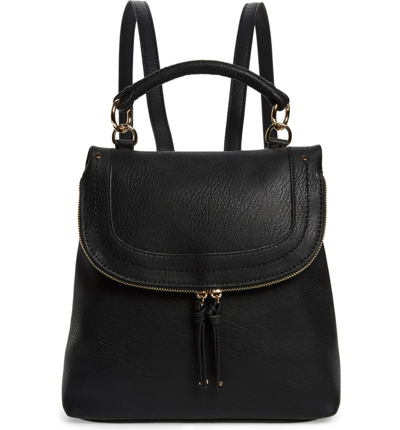 SOLE SOCIETY Rubie Faux Leather Backpack, Main, color, 001