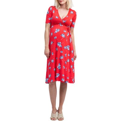 Nom Maternity Maya Maternity/nursing Wrap Dress, Pink