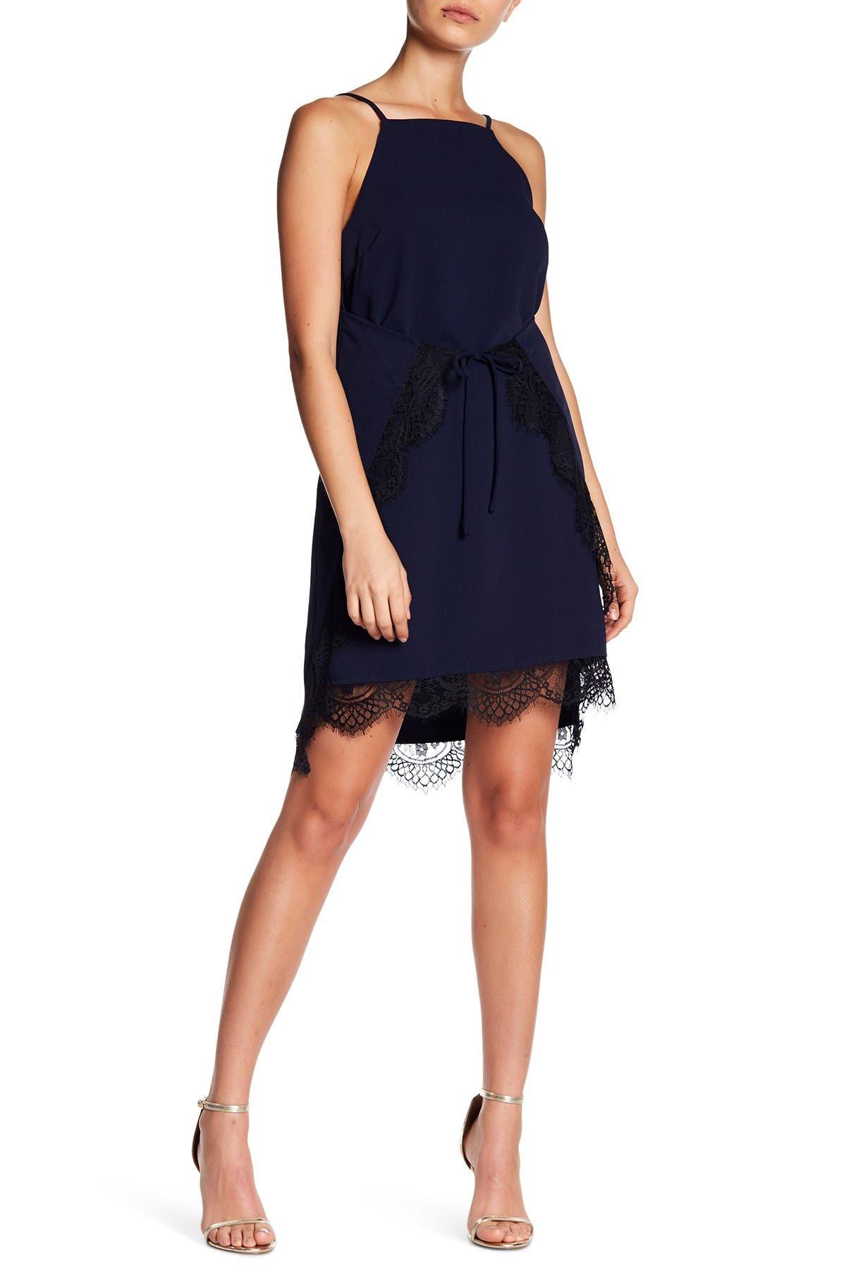 Image of Sugarlips Almee Lace Trim Slip Dress