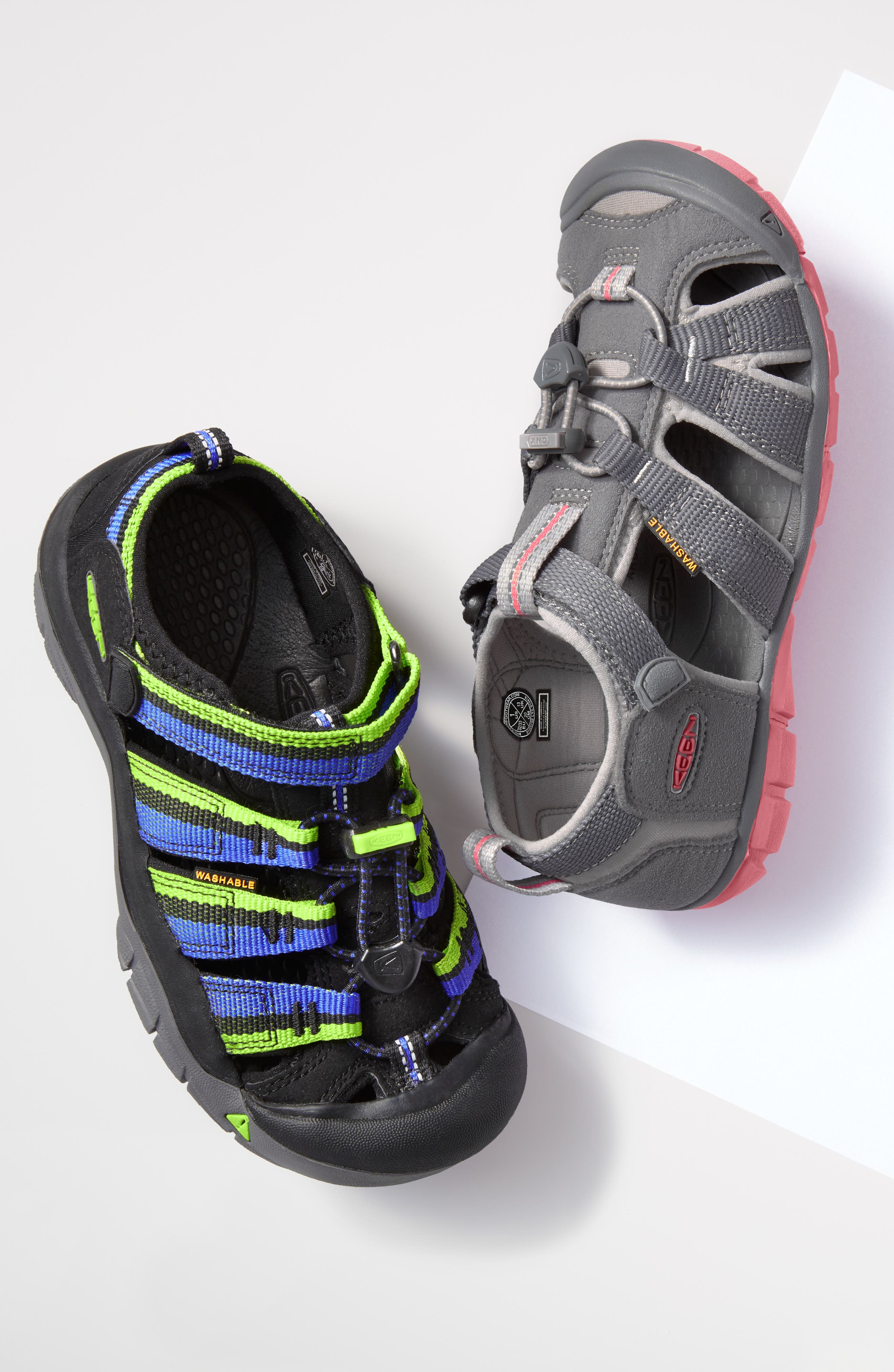 ,                             'Newport H2' Water Friendly Sandal,                             Alternate thumbnail 5, color,                             BLACK LIME