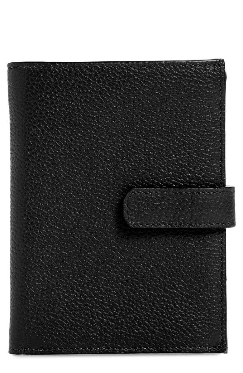 NORDSTROM Lauren Leather Bifold Wallet, Main, color, BLACK