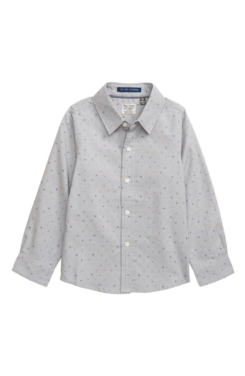 REBEL JAMES & CHARLI Mini Geo Woven Button-Up Shirt, Main, color, 030
