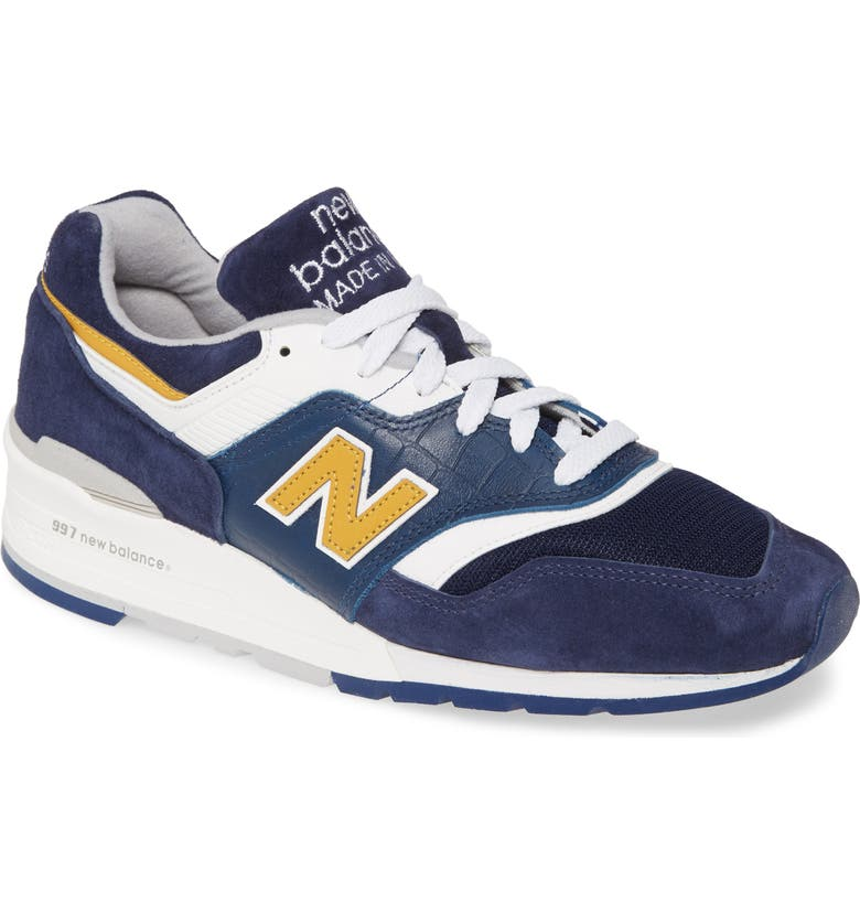 NEW BALANCE 997 Sneaker, Main, color, BLUE SUEDE