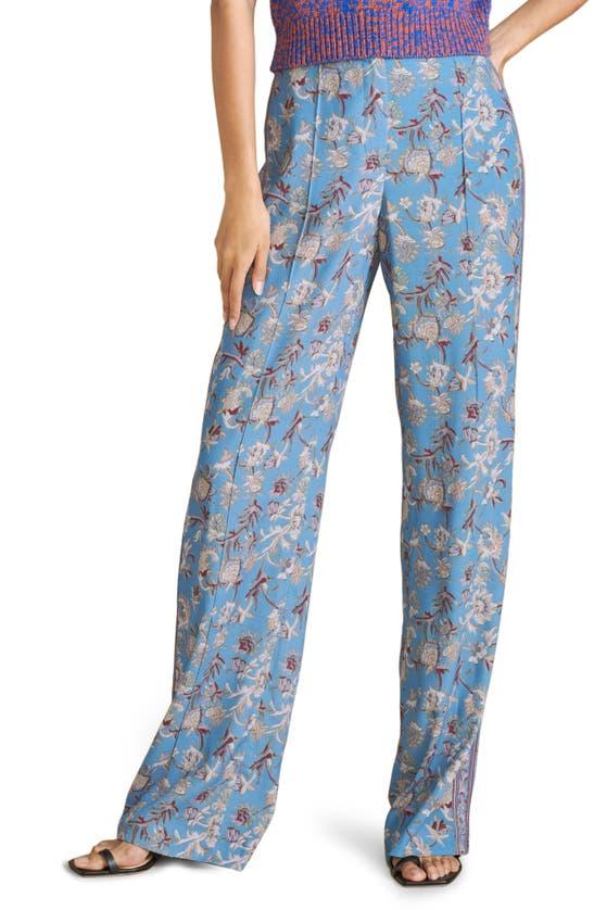 Veronica Beard Straight pants POMELINE FLORAL WIDE LEG PANTS
