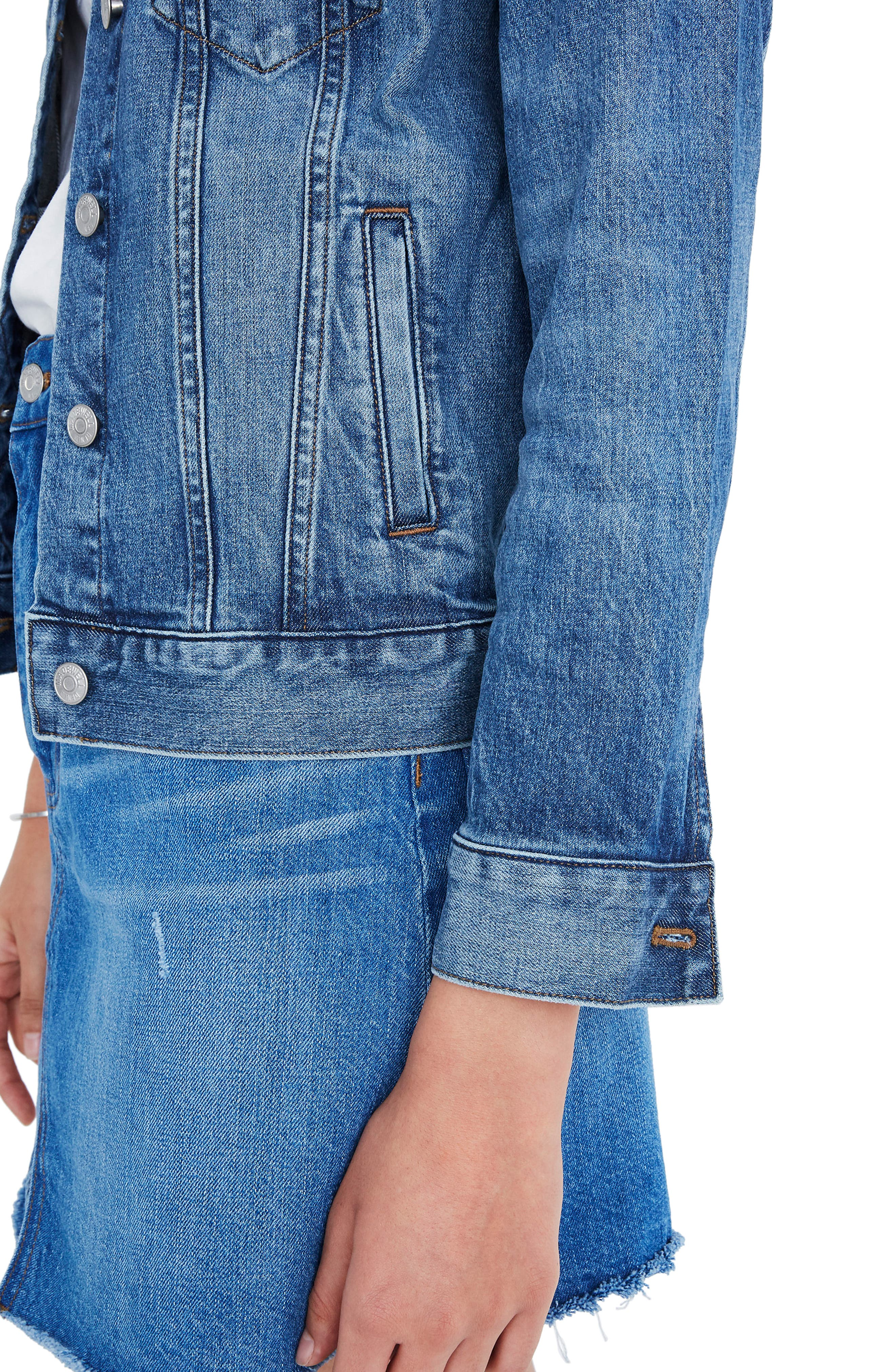 ,                             Eco Edition Stretch Denim Jacket,                             Alternate thumbnail 3, color,                             HOBSON WASH
