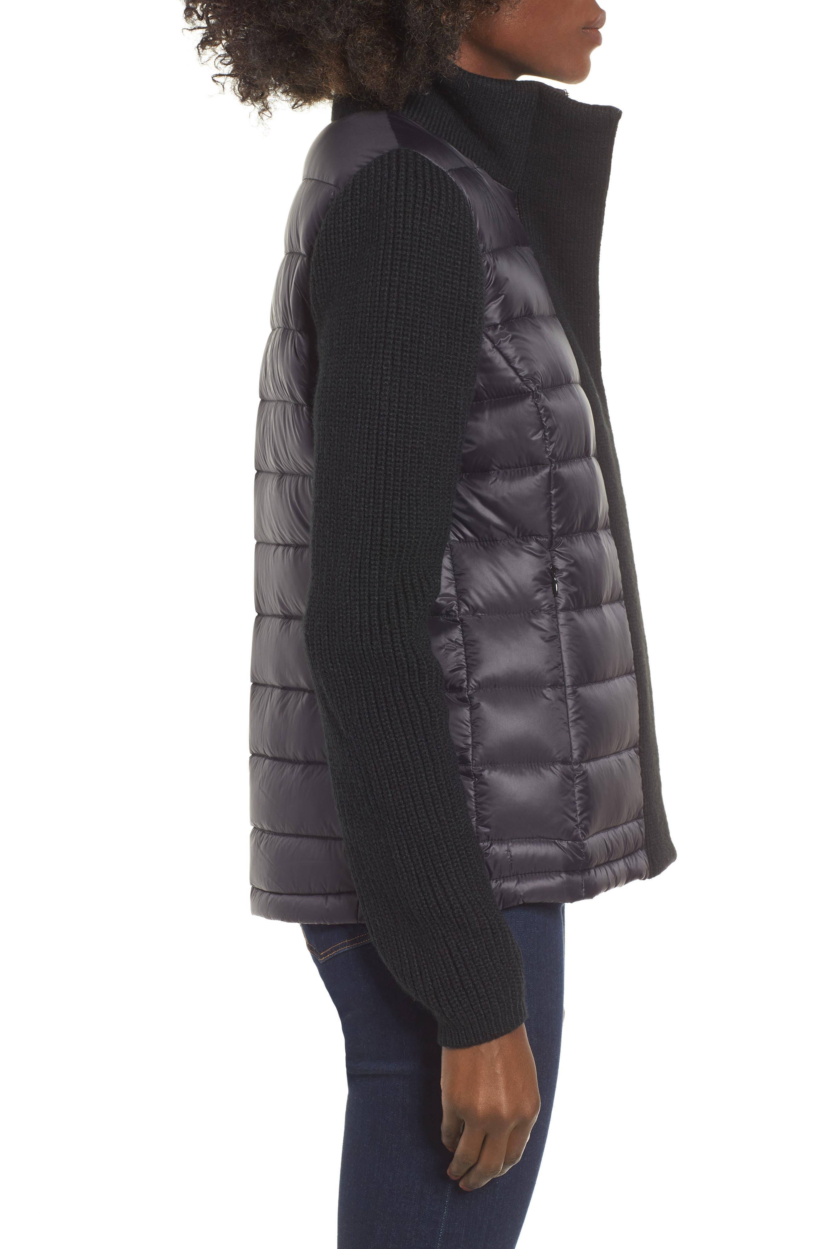 ,                             Mark New York Packable Knit Trim Puffer Jacket,                             Alternate thumbnail 10, color,                             001