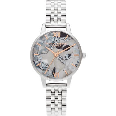 Olivia Burton Abstract Florals Bracelet Strap Watch, 30Mm