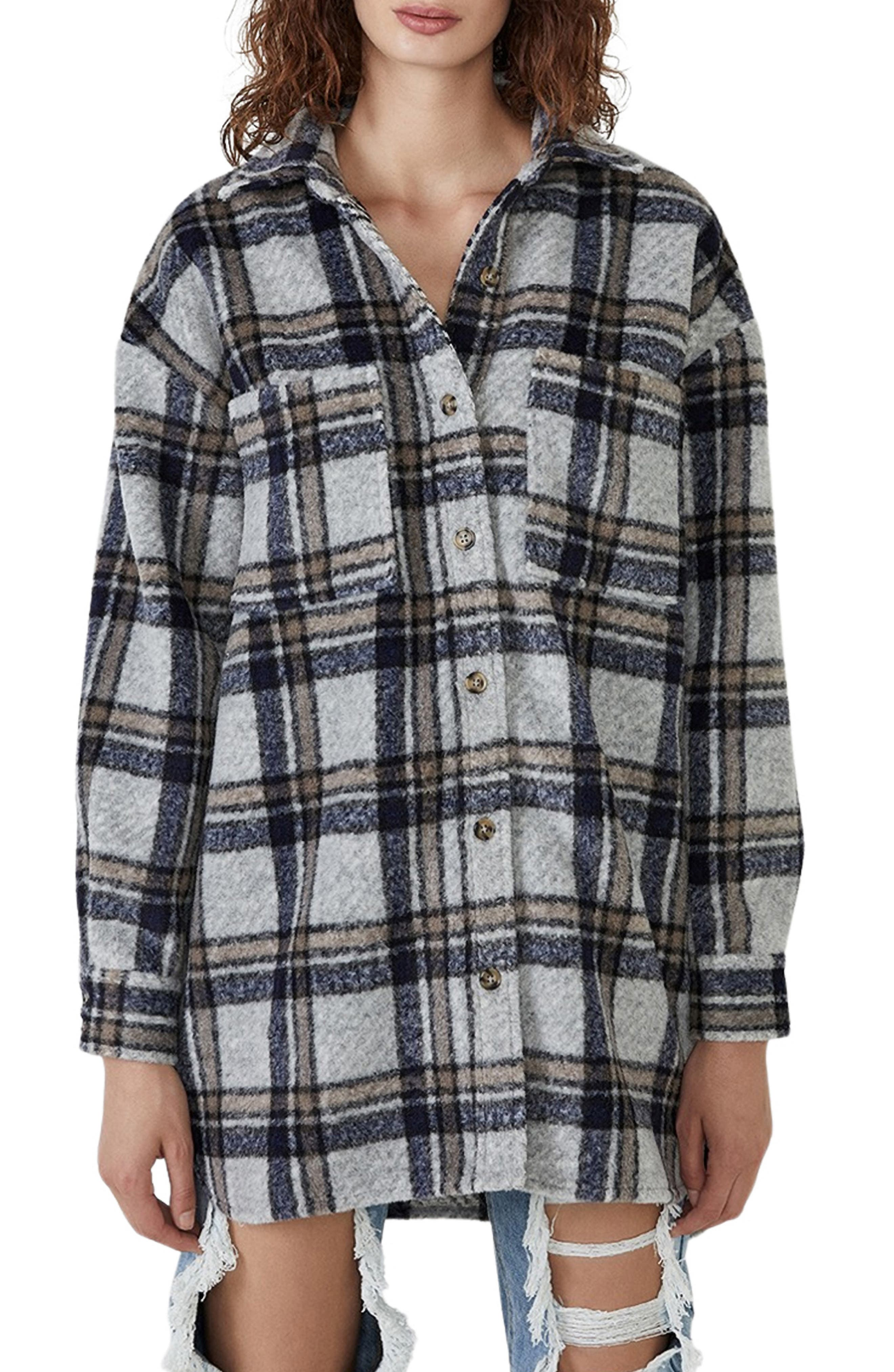 Oversize Check Flannel Shirt