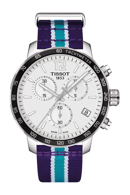 Image of Tissot Men's Quickster Chronograph NBA Charlotte Hornets Watch, 42mm