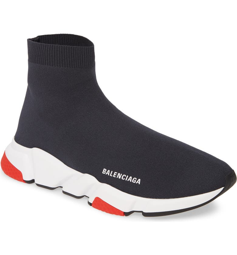 BALENCIAGA Speed High Slip-On, Main, color, STEEL