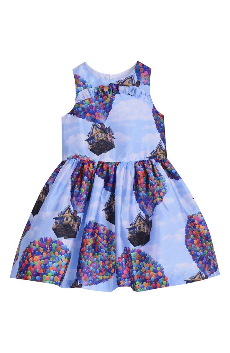 PIPPA & JULIE x Disney Up House Fit & Flare Dress, Main, color, BLUE