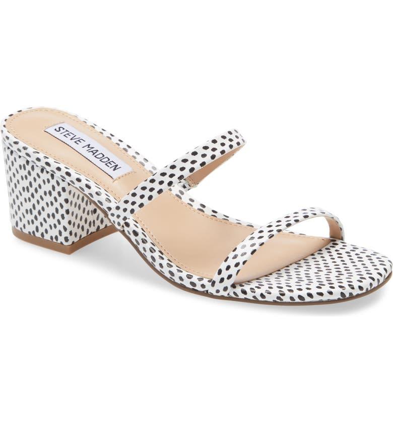 STEVE MADDEN Issy Block Heel Slide Sandal, Main, color, 014