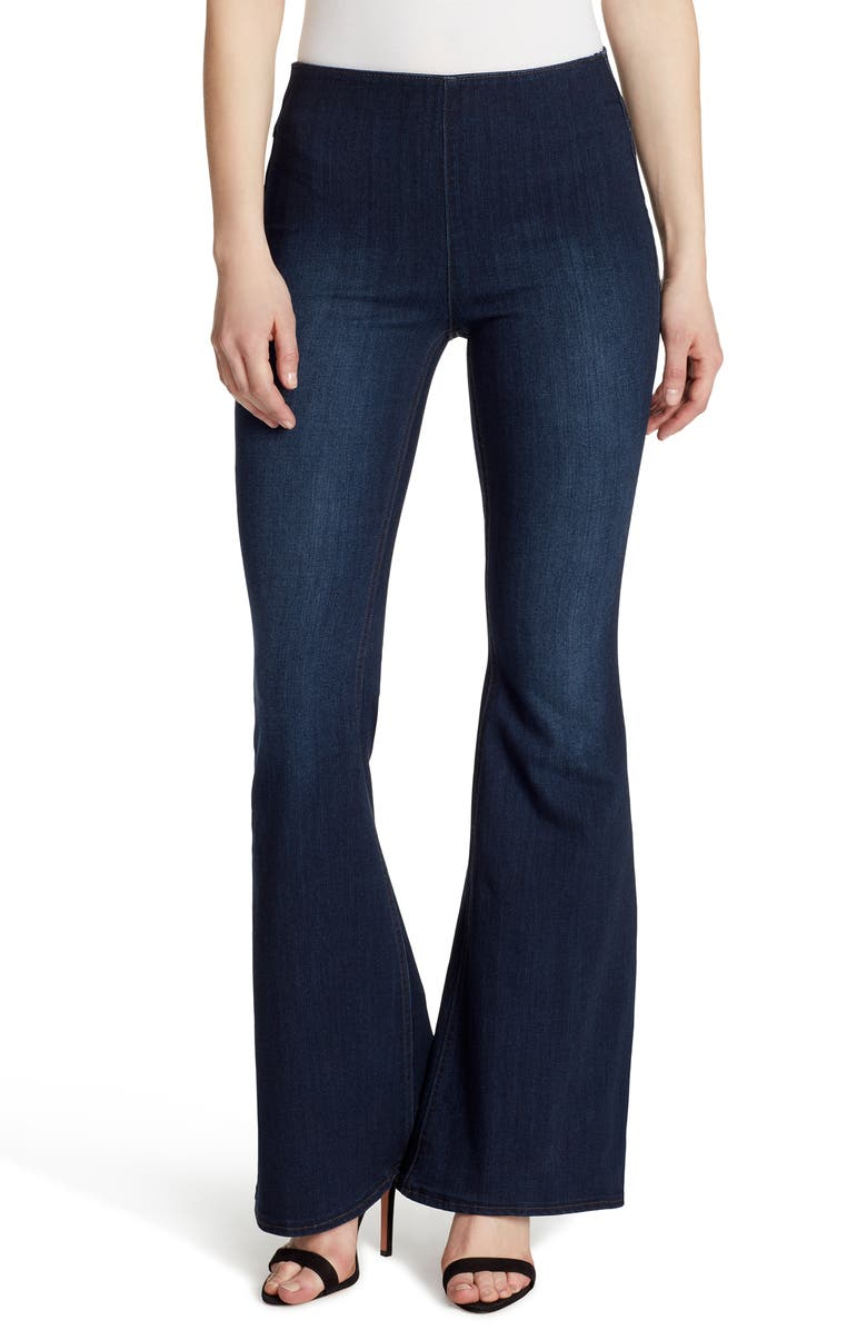 ELLA MOSS Pull-On Flare Jeans, Main, color, NIGHTFALL