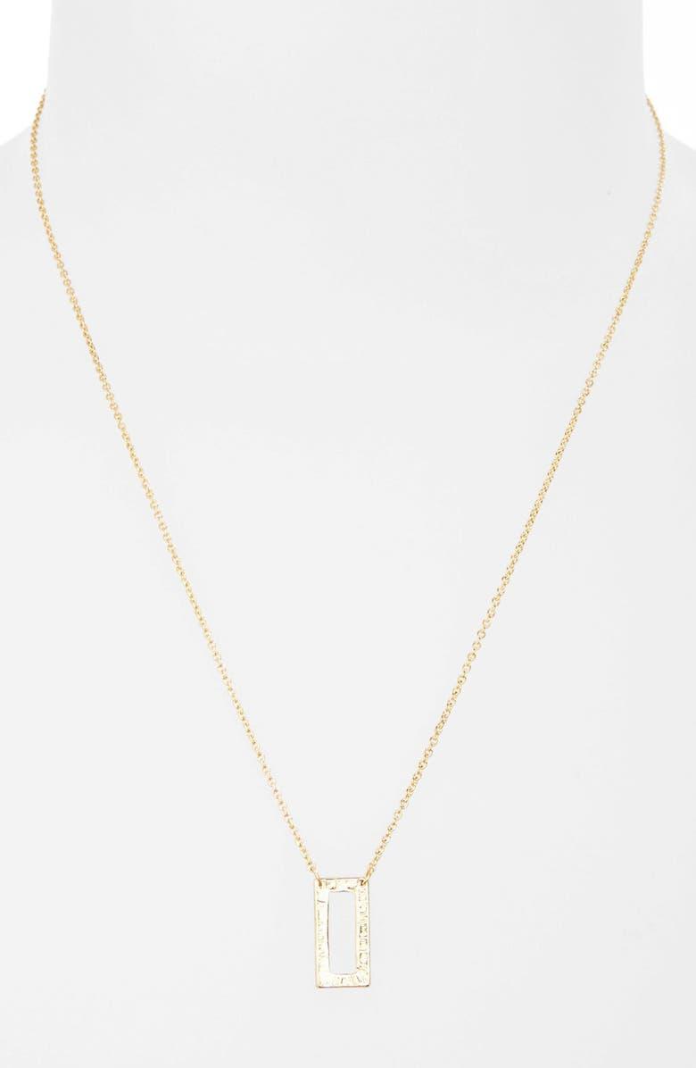 TOPSHOP Cutout Pendant Necklace, Main, color, 710