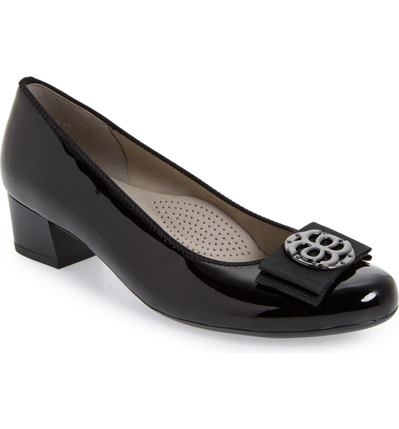 ARA Nicolette Pump, Main, color, BLACK PATENT LEATHER