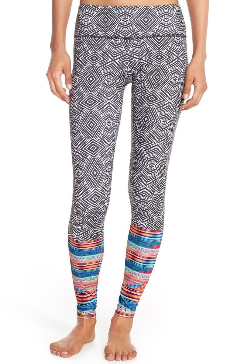 ONZIE Graphic Long Leggings, Main, color, 001
