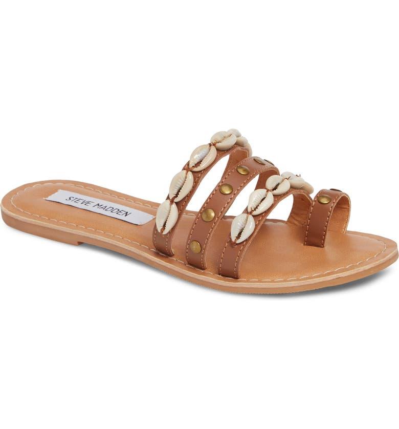 STEVE MADDEN Seashore Embellished Slide Sandal, Main, color, 200