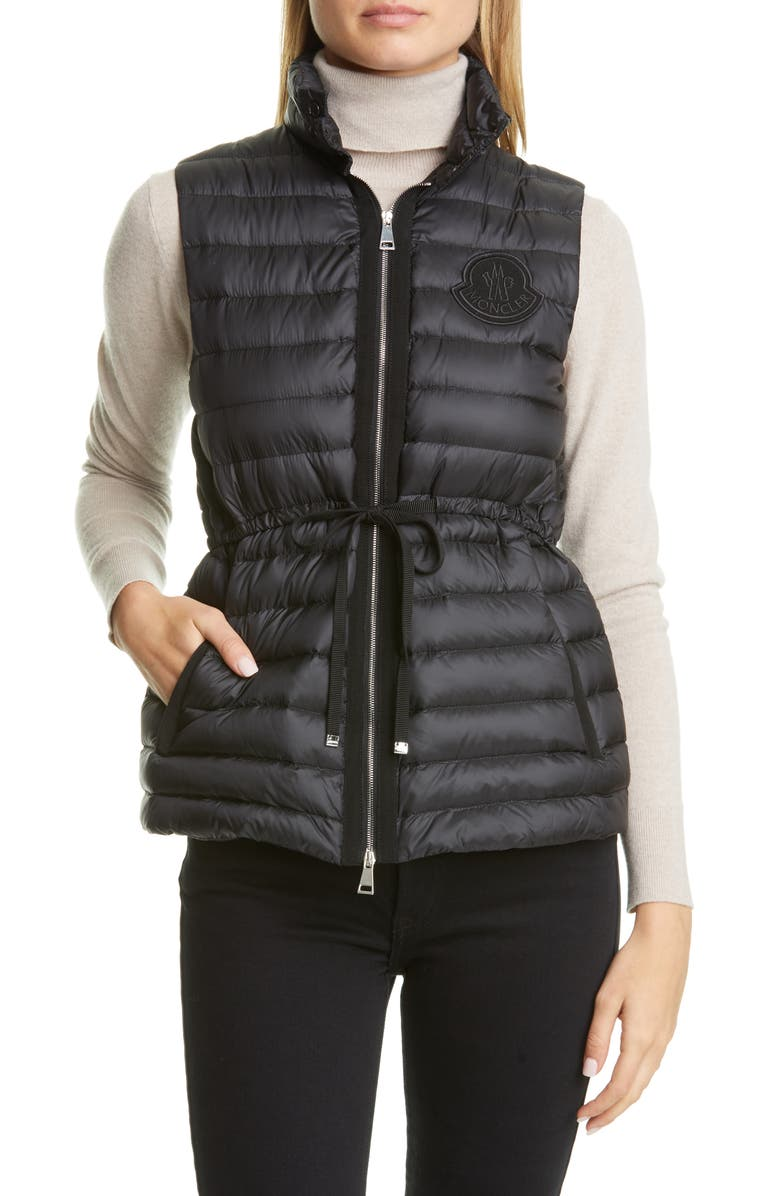 MONCLER Azur Lightweight Down Puffer Vest, Main, color, BLACK