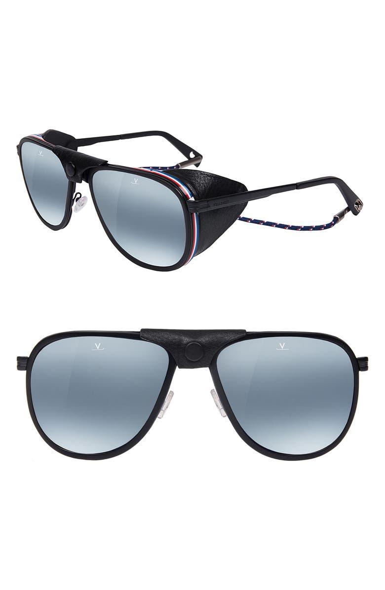 VUARNET Glacier XL 61mm Polarized Sunglasses, Main, color, BLUE POLARLYNX