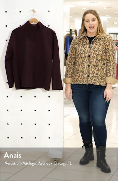 Stand Collar Boxy Coat, sales video thumbnail