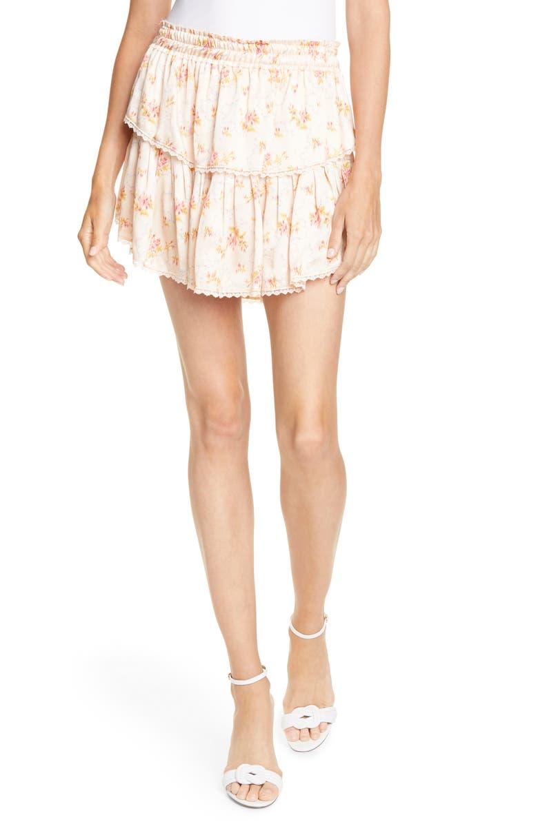 LOVESHACKFANCY Ruffle Miniskirt, Main, color, SCALLOP SHELL