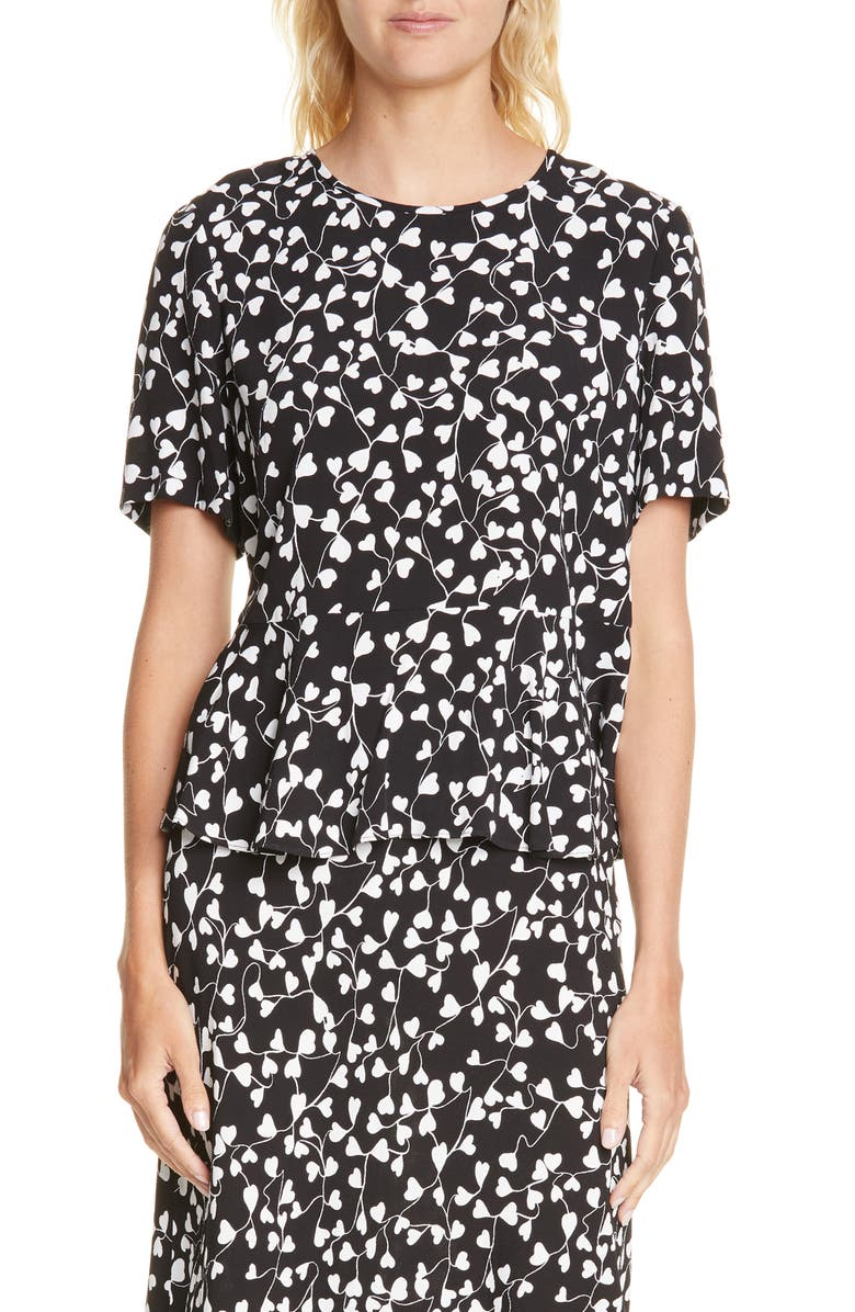 DVF Orilla Print Top, Main, color, 001