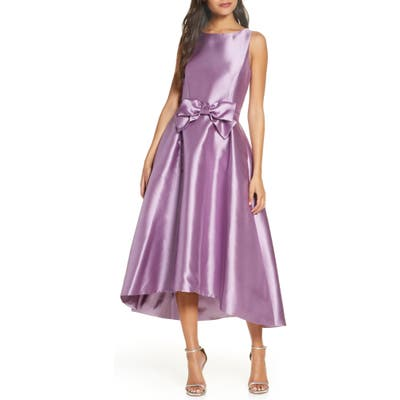Tahari Mikado High/low Gown