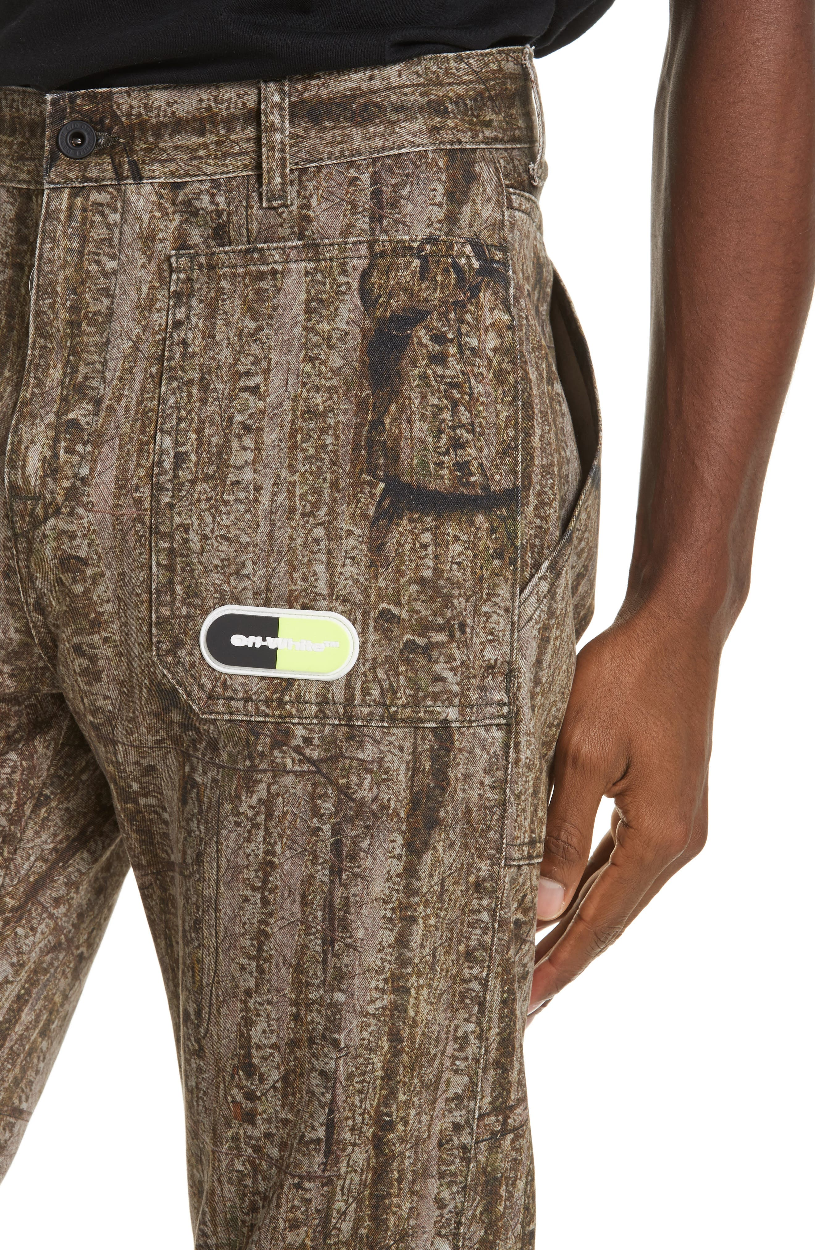 ,                             Camo Print Cargo Pocket Pants,                             Alternate thumbnail 4, color,                             CAMOU