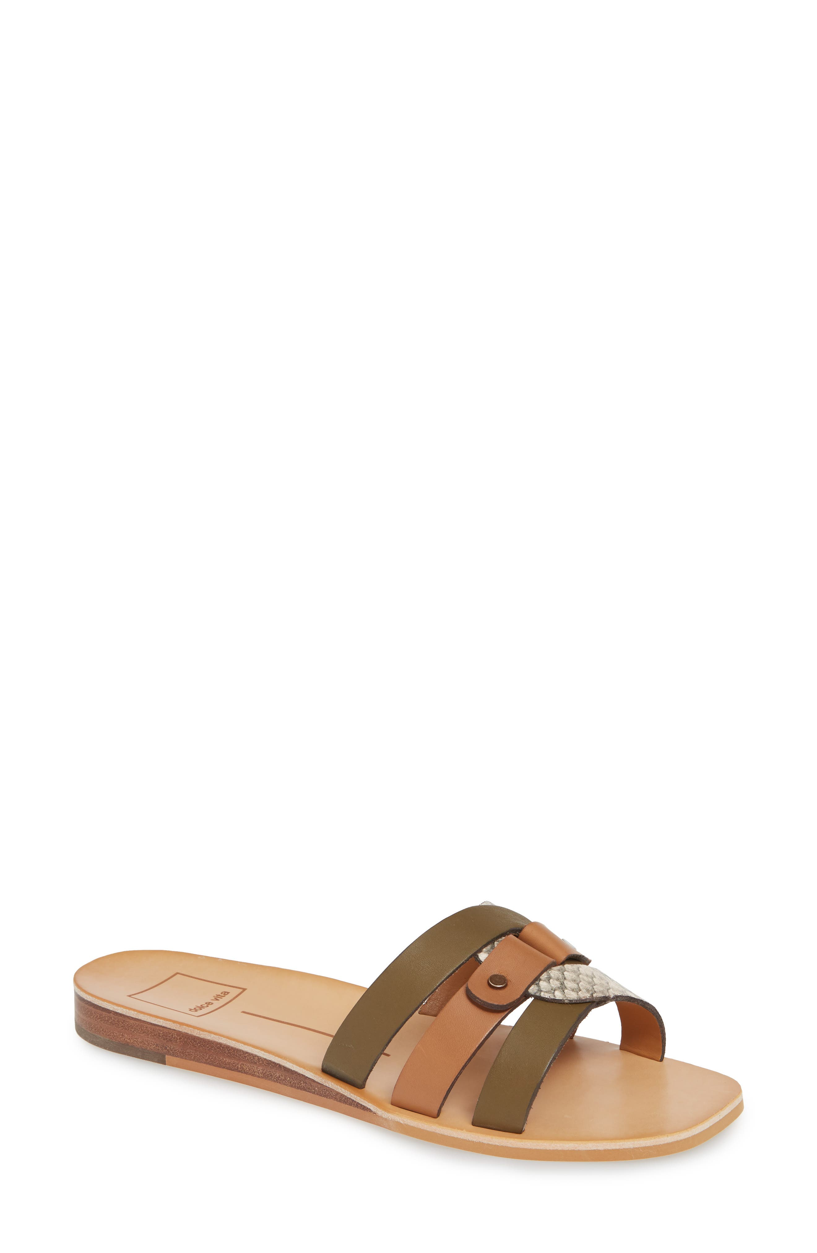 Dolce Vita Cait Slide Sandal, Brown