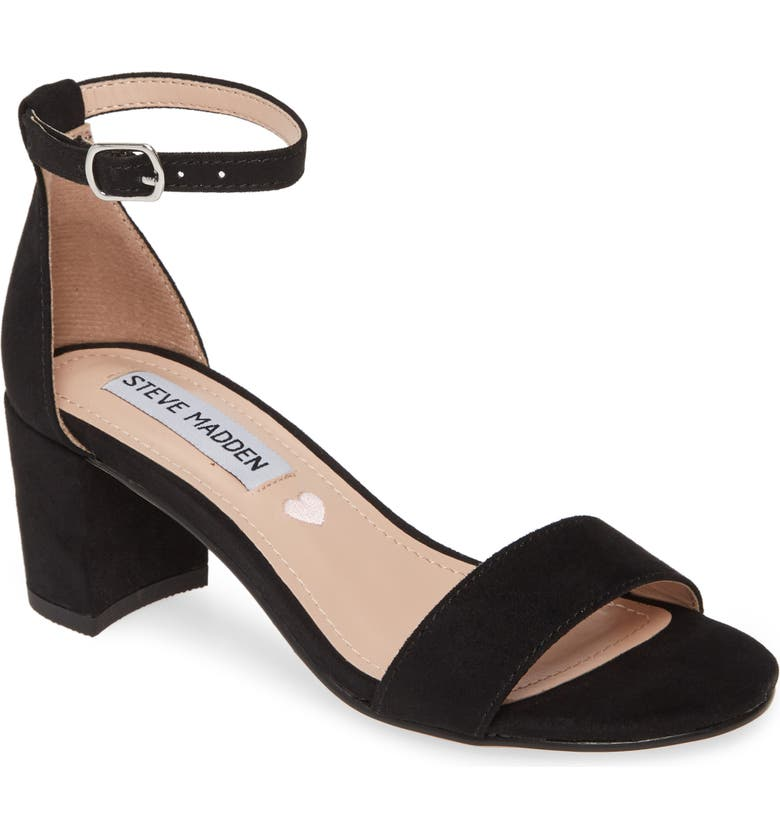 STEVE MADDEN JCarrson Ankle Strap Sandal, Main, color, BLACK