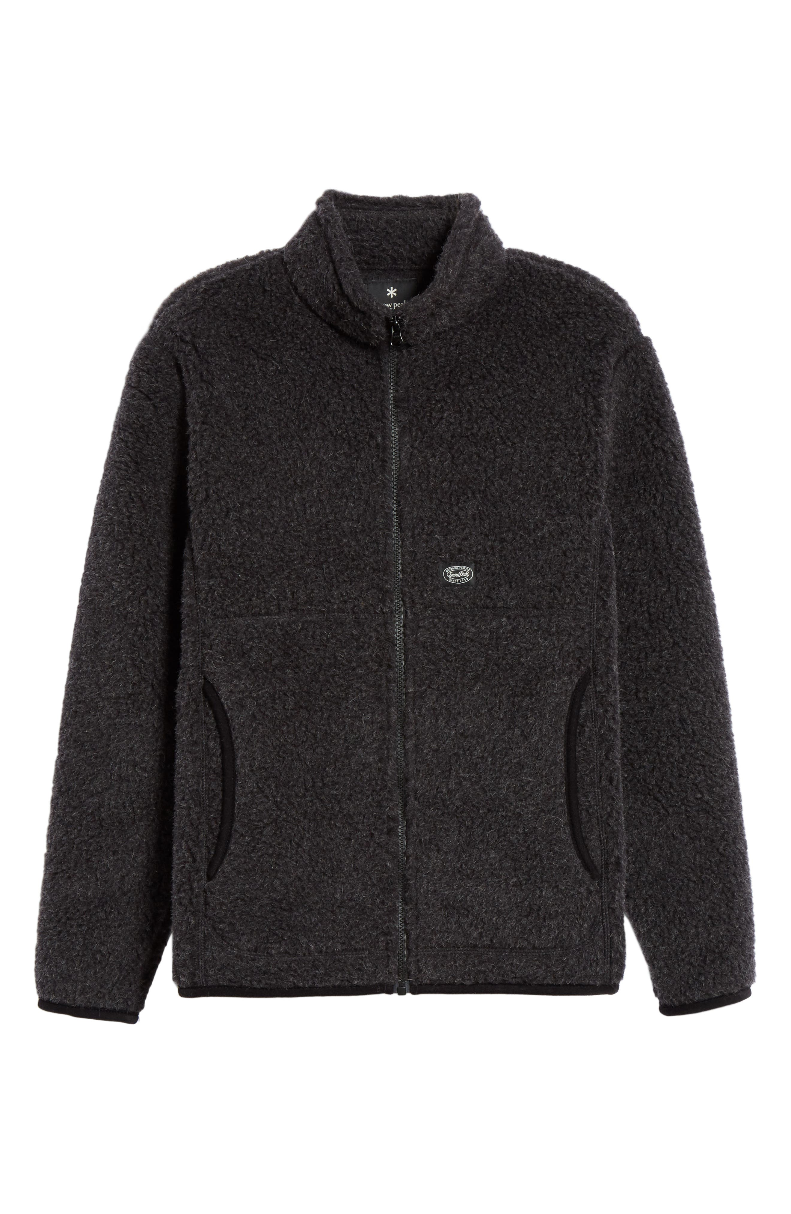 Snow Peak Wool Fleece Jacket, Black
