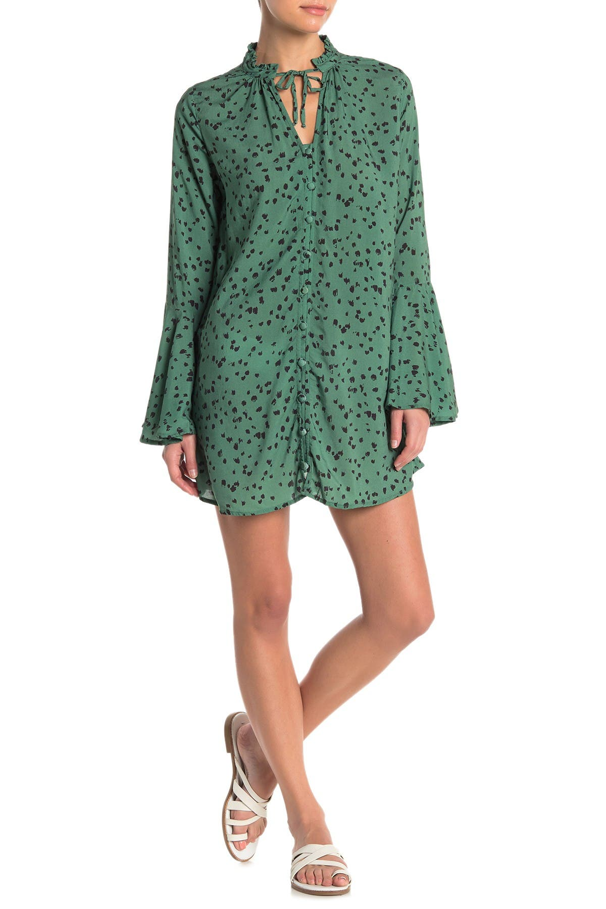 Image of Maaji Green Barrier Reef Cover-Up Tunic