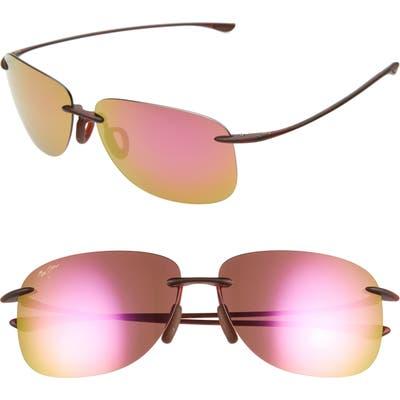 Maui Jim Hikina 62Mm Polarizedplus2 Rimless Sunglasses - Maui Sunrise/ Matte Tortoise
