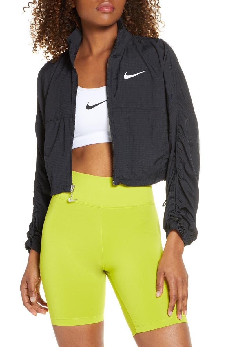 NIKE Sportswear Swoosh Crop Jacket, Main, color, 010