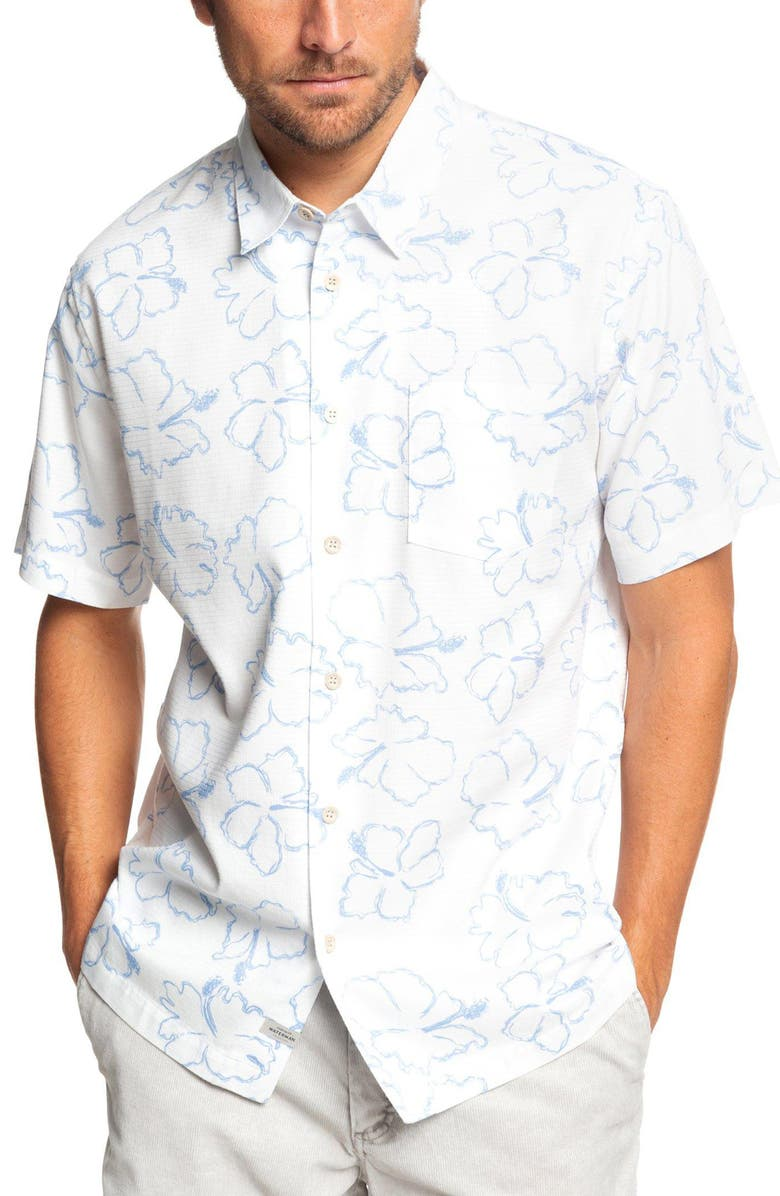 QUIKSILVER WATERMAN COLLECTION Seasick Hilo Regular Fit Shirt, Main, color, 101
