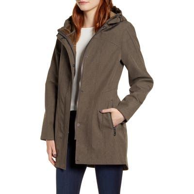 Kristen Blake Packable Softshell Hooded Jacket, Green
