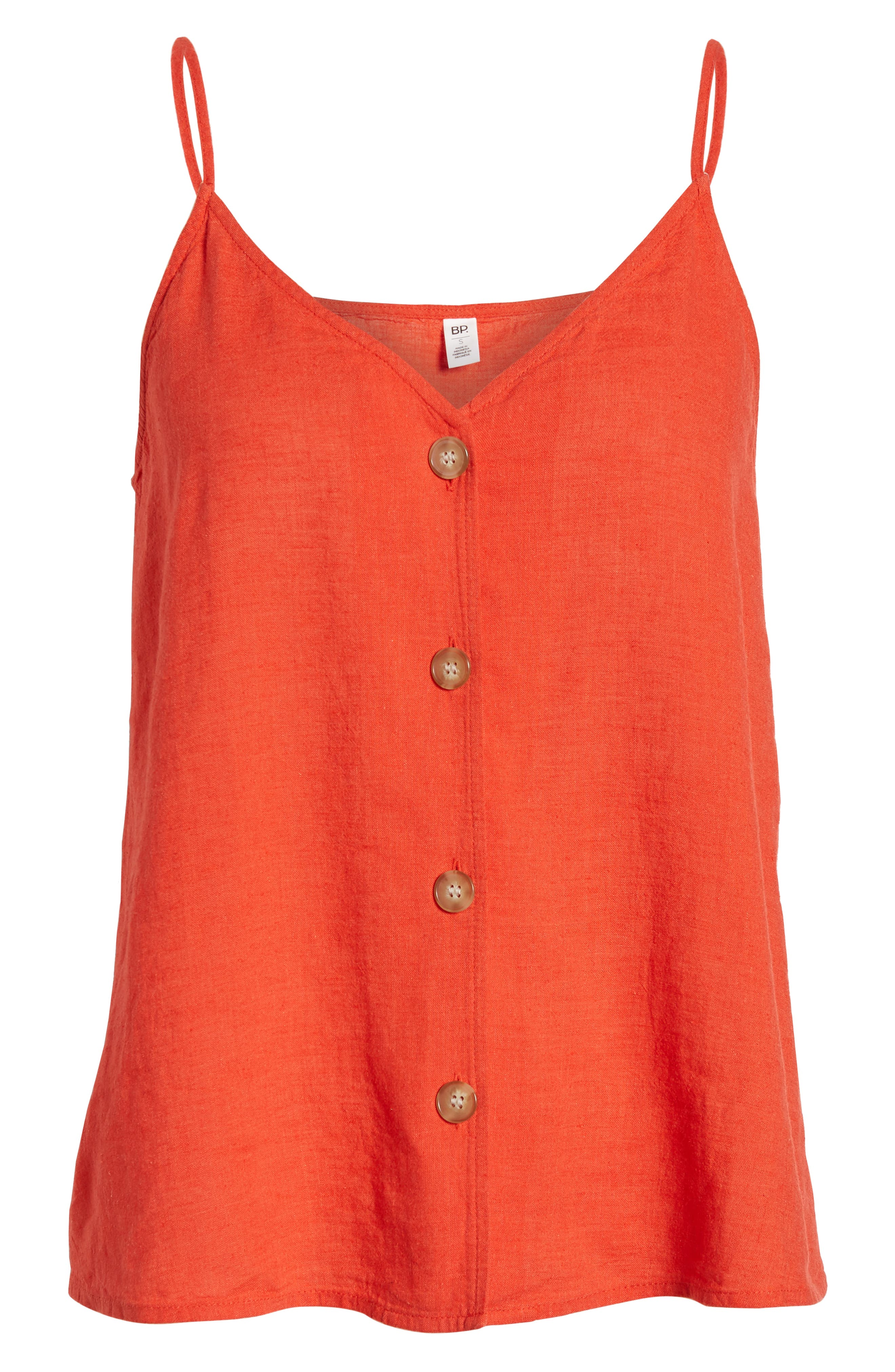 ,                             Linen Blend Camisole Top,                             Alternate thumbnail 6, color,                             RED FIERY CD