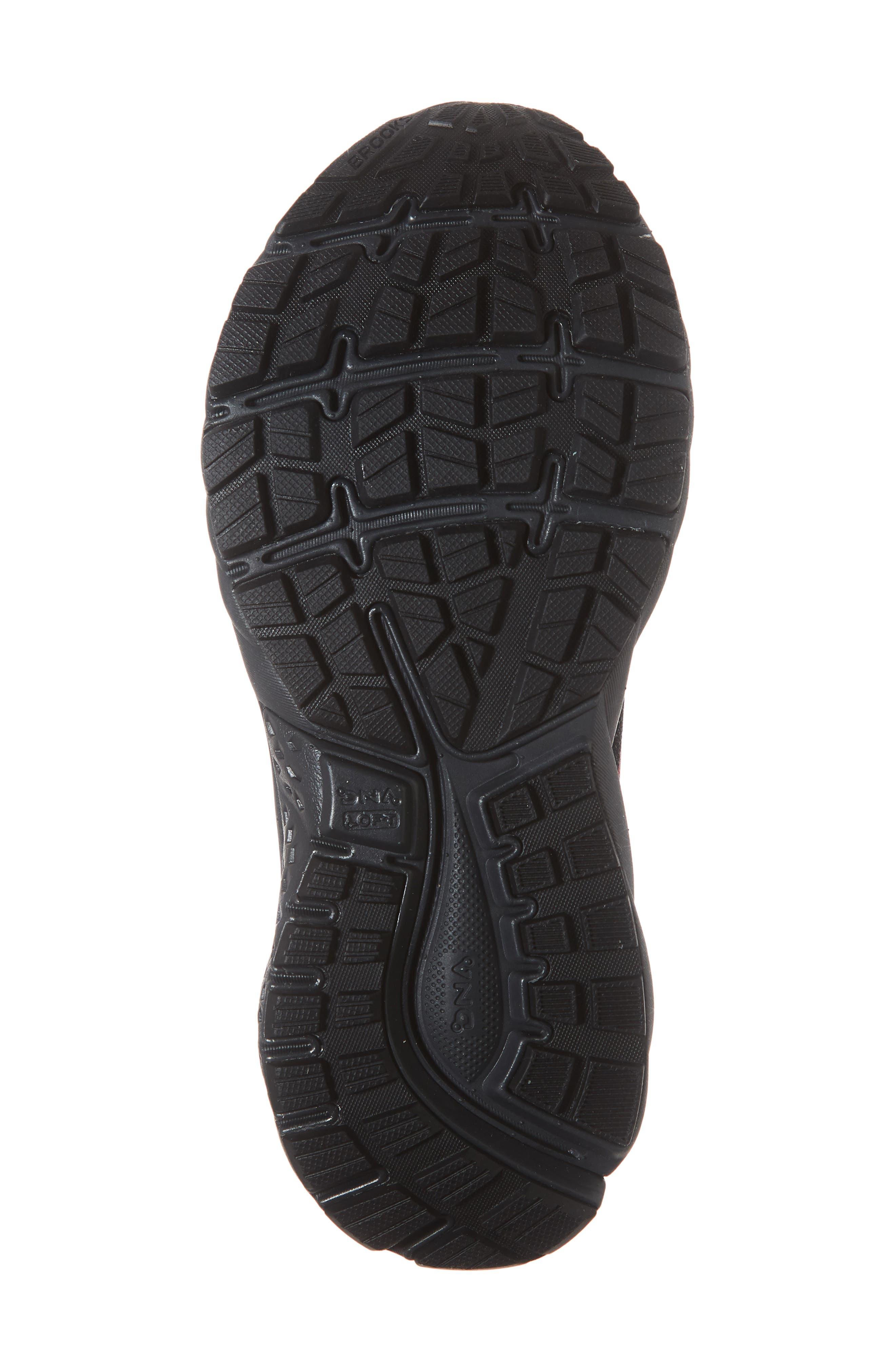 ,                             Ghost 11 GTX Gore-Tex<sup>®</sup> Waterproof Running Shoe,                             Alternate thumbnail 6, color,                             BLACK/ PINK/ EBONY