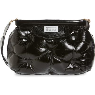 Maison Margiela Glam Slam Leather Convertible Crossbody Bag - Black
