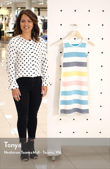 Stripe Stretch Cotton Tank Dress, sales video thumbnail
