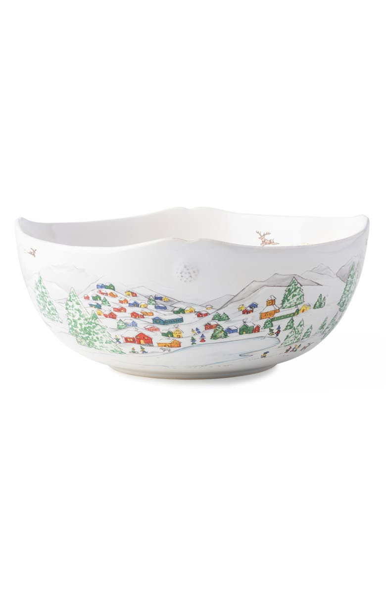 JULISKA North Pole Serving Bowl, Main, color, WHITE MULTI