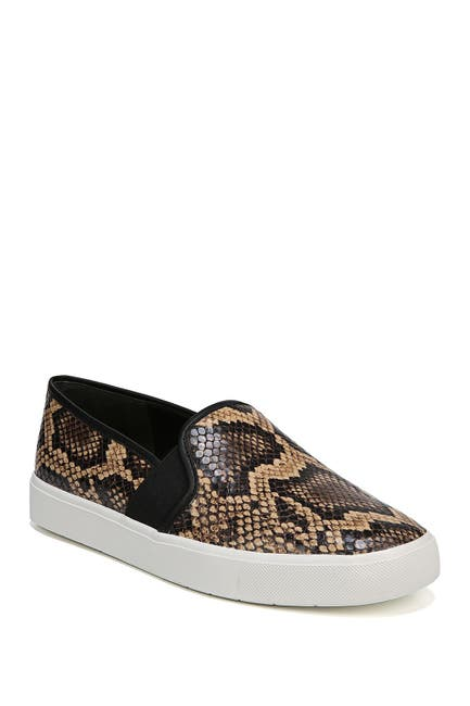Image of Vince Blair Snakeskin Embossed Leather Slip-On Sneaker