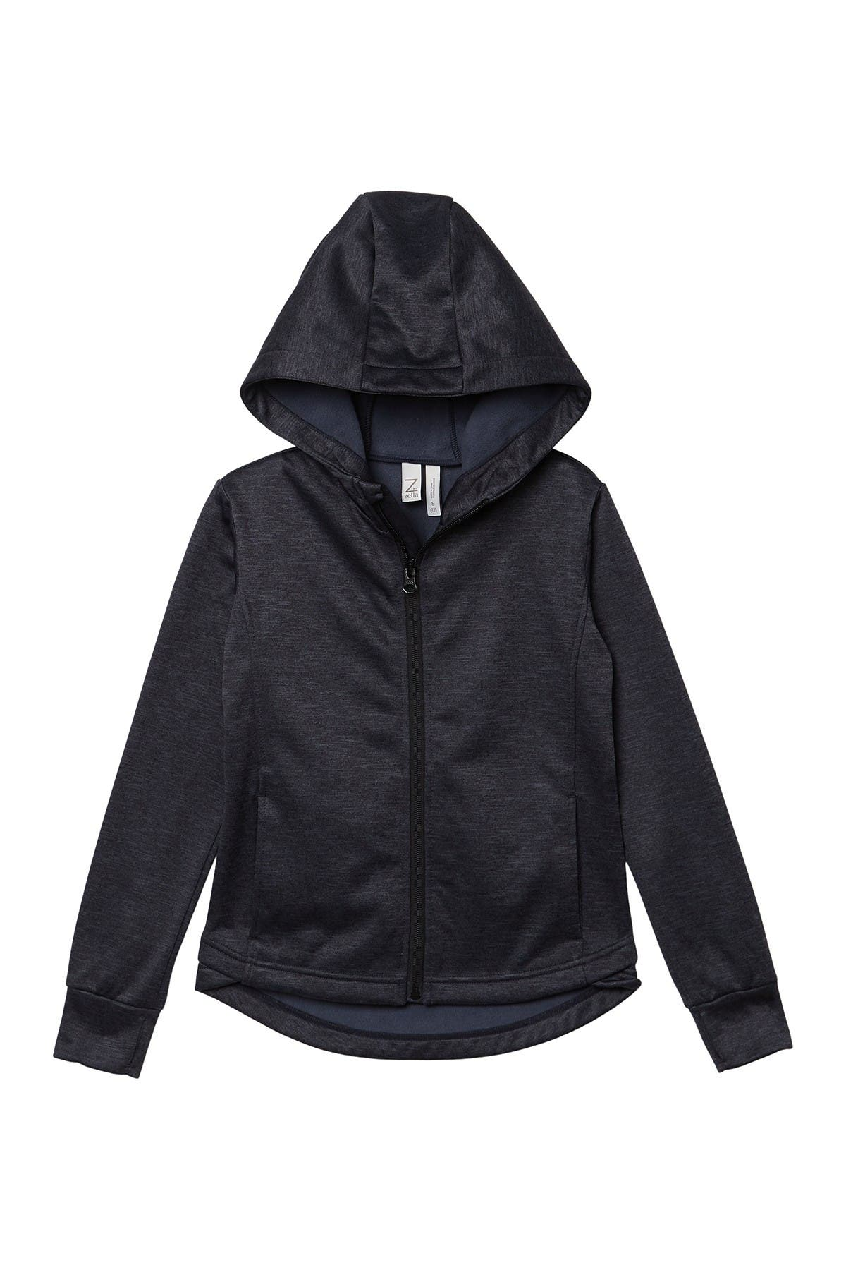 Image of Z by Zella Girl High-Low Hooded Track Jacket