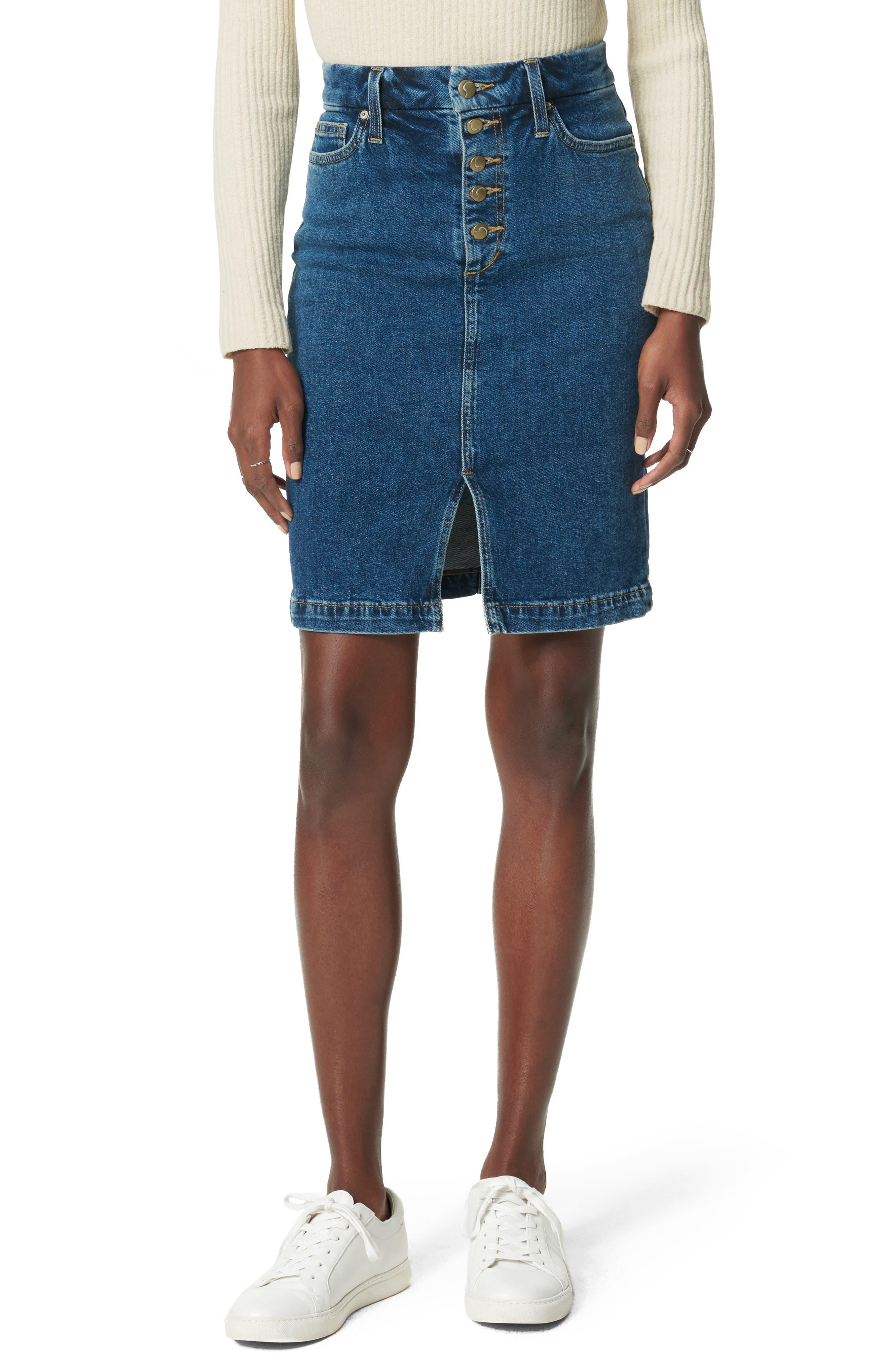 Joe's Skirts High Waist Denim Pencil Skirt