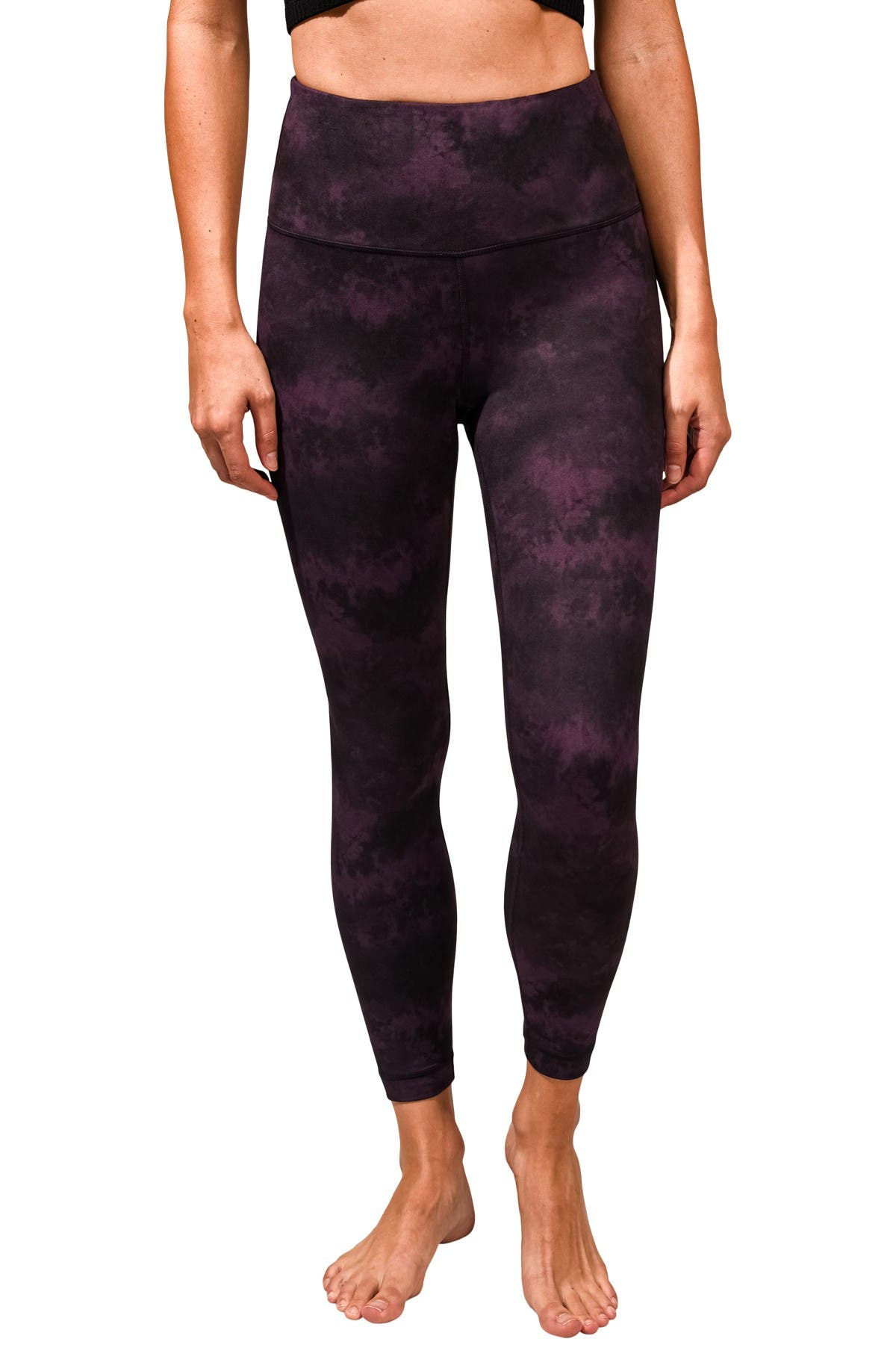 Image of 90 Degree By Reflex Lux Printed High Waist Ankle Leggings