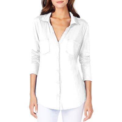 Michael Stars Knit Shirt, Size One Size - White