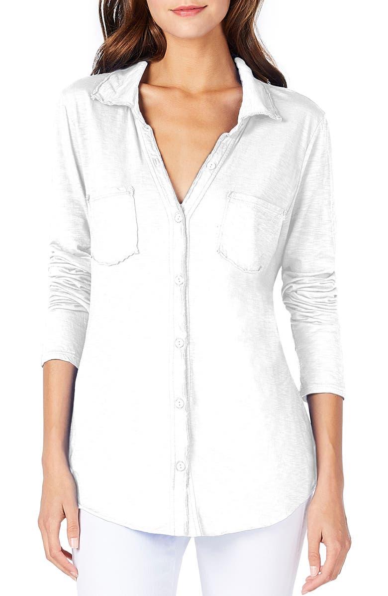 MICHAEL STARS Knit Shirt, Main, color, WHITE